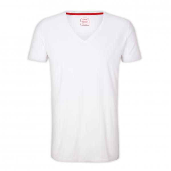 "T-Shirt V-Ausschnitt ""White"""