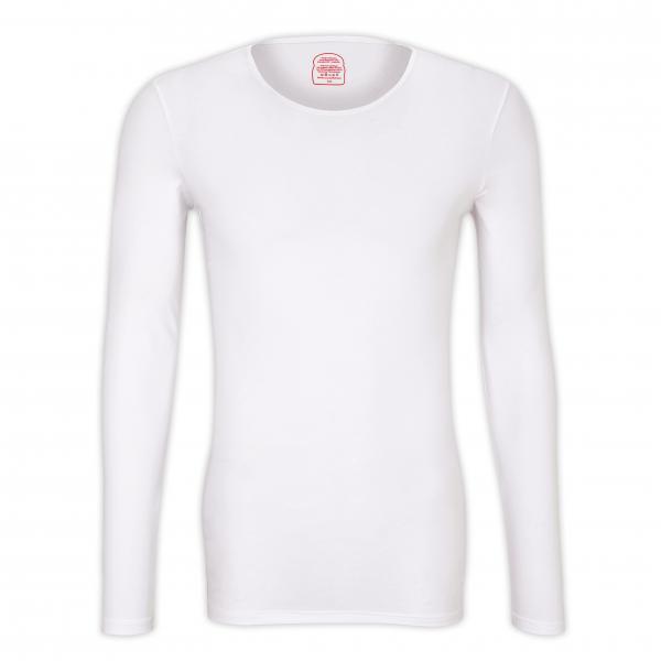 "Langarm T-Shirt Rundhals ""White"""