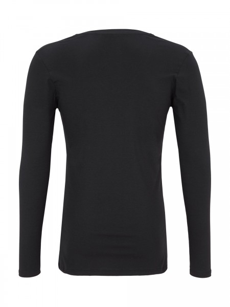 """Langarm T-Shirt Rundhals """"Black"""""""